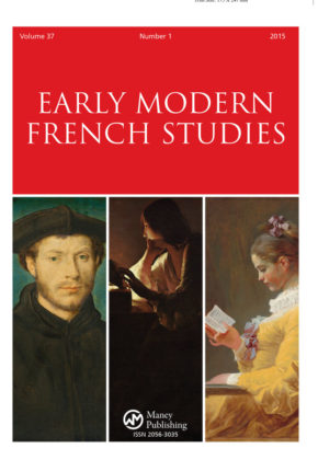 Early Modern French Studies journal cover